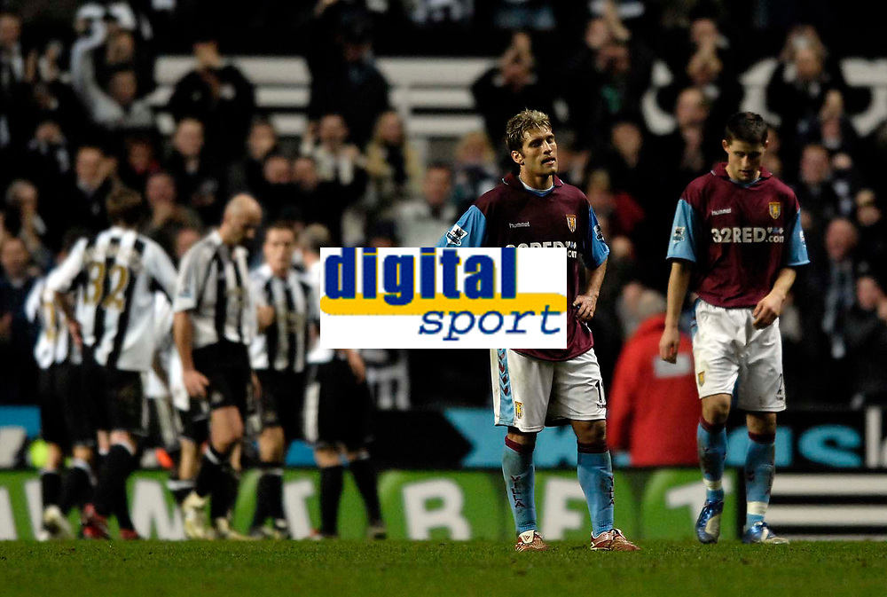 Photo: Jed Wee.<br /> Newcastle United v Aston Villa. The Barclays Premiership. 31/01/2007.<br /> <br /> Aston Villa's Stilian Petrov and Gareth Barry (R) hang their heads after Newcastle seal their win in injury time.