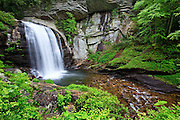 Looking Glass Falls in the Pisgah National Forest just outside of Brevard, North Carolina.