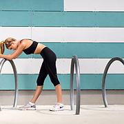 Katie Goehring fitness photo shoot on Friday, July 22, 2017 in Playa Vista, Calif.