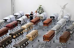 December 1, 2016 - Imagens dos caixões que vão trazer as vítimas da queda do avião da Chapecoense. (Credit Image: © Juan Antonio SáNchez/Fotoarena via ZUMA Press)