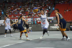 June 9, 2018 - Bulacan, Philippines - Rae Lin D'alie of Italy drives to the basket during the match up between Italy and Malaysia for the FIBA 3x3 tournament held at the Philippine Arena in the province of Bulacan, north of Manila on 09 June 2018. (Credit Image: © George Calvelo/NurPhoto via ZUMA Press)