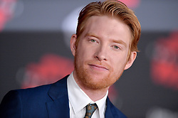 Domhnall Gleeson attends the world premiere of Disney Pictures and Lucasfilm's 'Star Wars: The Last Jedi' at The Shrine Auditorium on December 9, 2017 in Los Angeles, CA, USA. Photo by Lionel Hahn/ABACAPRESS.COM
