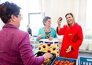 Koningin Máxima aan Steunstichting Voedsel Focus Amersfoort
