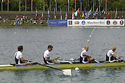 Munich, GERMANY, GBR M4- Andy Twiggs Hodge, Alex Partridge, Peter Reed, Steve Williams, 2006, FISA, Rowing, World Cup, on the Olympic Regatta Course, Munich,Sat.  27.05.2006. © Peter Spurrier/Intersport-images.com,  / Mobile +44 [0] 7973 819 551 / email images@intersport-images.com.[Mandatory Credit, Peter Spurier/ Intersport Images] Rowing Course, Olympic Regatta Rowing Course, Munich, GERMANY