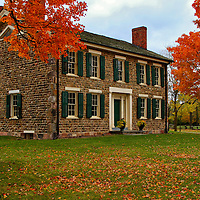 """""""Cobblestone Farm in Fall""""<br /> <br /> A wonderful image of historic Cobblestone Farm in Ann Arbor Michigan during the fall season!!<br /> Beautiful architecture, texture and colors!!<br /> <br /> Architecture, structures, buildings and their details by Rachel Cohen"""