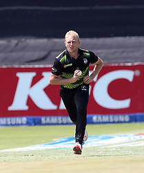 Andrew Birch of the Warriors during the T20 Challenge cricket match between the Lions and the Warriors at the Kingsmead stadium in Durban, KwaZulu Natal, South Africa on the 4th December 2016<br /> <br /> Photo by:   Steve Haag / Real Time Images