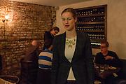 New York, NY, - December 8, 2013. Barbara Lambert, co-owner with her husband Matt Lambert, in the dining room of The Musket Room, 265 Elizabeth St.