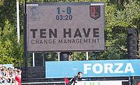 UTRECHT -  Scorebord Ten Have   tijdens   de finale van de play-offs om de landtitel tussen de heren van Kampong en Amsterdam (3-1). Kampong kampong kampioen van Nederland. COPYRIGHT  KOEN SUYK
