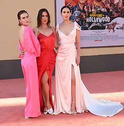 July 22, 2019 - Hollywood, California, USA - 22 July 2019 - Hollywood, California - Tallulah Willis, Scout WIllis, Rumer Willis. ''Once Upon A Time In Hollywood'' Los Angeles Premiere held at The TCL Chinese Theatre. Photo Credit: Birdie Thompson/AdMedia (Credit Image: © Birdie Thompson/AdMedia via ZUMA Wire)