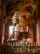 Statue of Komokuten, protector of the west, one of the Guardians of the four corners. Located in the Todai-Ji Temple Nara Japan