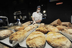 South Africa - Cape Town - 27 April 2020 - Head chef Gordon Logan bakes his world famous artisan bread for the homeless. Coco Safar Café in Sea Point, donates crates of freshly baked bread to The Haven homeless shelter in Greenpoint. Photographer: Armand Hough/African News Agency(ANA)