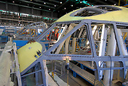 Assembly line of the cockpit of C-27J plane in Alenia Aeronautica's plant, at Pomigliano D'Arco (Naples), Italy, on Wensday, Dec. 5, 2007. Photographer: Víctor Sokolowicz / Bloomberg News
