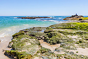 Rugged Rocks on the Shoreline at Treasure Island Beach in Laguna