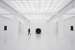 Modern art installation inside Hamburger Bahnhof art museum in Berlin Germany