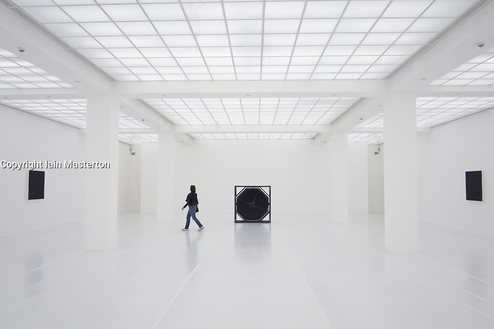 Modern art installation inside Hamburger Bahnhof art museum in Berlin Germany