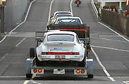 Gary Tierney & David Carra.Porsche 911 Carrera RS.Arrive off the Spirit of Tasmania in Devonport.Pre Event.Targa Tasmania 2009.27th of April 2009.(C) Joel Strickland Photographics.