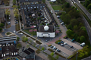 Nederland, Flevoland, Almere, 28-04-2010; Moskee Abu Bakr, Marokaans..Abu Bakr Mosque, Moroccan.luchtfoto (toeslag), aerial photo (additional fee required).foto/photo Siebe Swart