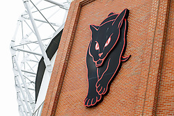 "A ""Black Cats"" logo representing Sunderland's nickname is seen  outide the Stadium of Light  - Photo mandatory by-line: Rogan Thomson/JMP - 07966 386802 - 27/08/2014 - SPORT - FOOTBALL - Sunderland, England - Stadium of Light - Sunderland v Swansea City - Barclays Premier League."