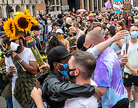 thousands of protesters marched through central London to celebrate the black trans community and demonstrate against potential changes to the Gender Recognition Act photo by Brian Jordan