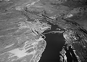 """9305-A4635-02 """"Aerial. The Dalles Dam. March 7, 1955"""""""