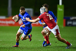 Federico Mori of Italy in action <br /> <br /> Photographer Craig Thomas/Replay Images<br /> <br /> U20 Six Nations - Wales v Italy  - Friday 31st January 2020 - Stadiwm Zip World (Parc Eirias) - Colwyn Bay<br /> <br /> World Copyright © Replay Images . All rights reserved. info@replayimages.co.uk - http://replayimages.co.uk