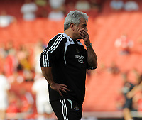 An Unhappy Kevin Keegan Manager in his last match in charge before been Sacked today 02/09/08<br /> Newcastle United 2008/09<br /> Arsenal V Newcastle United (3-0) 30/08/08<br /> The Barclays Premier League<br /> Photo Robin Parker Fotosports International