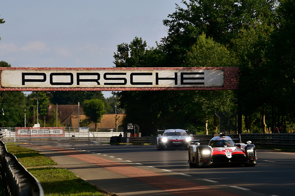 #8 Toyota Gazoo Racing Toyota TS050: Sébastien Buemi, Kazuki Nakajima, Fernando Alonso<br /> Wednesday 13 June 2018<br /> 24 Hours of Le Mans<br /> 2018 24 Hours of Le Mans<br /> Circuit de la Sarthe  FR<br /> World Copyright: Scott R LePage