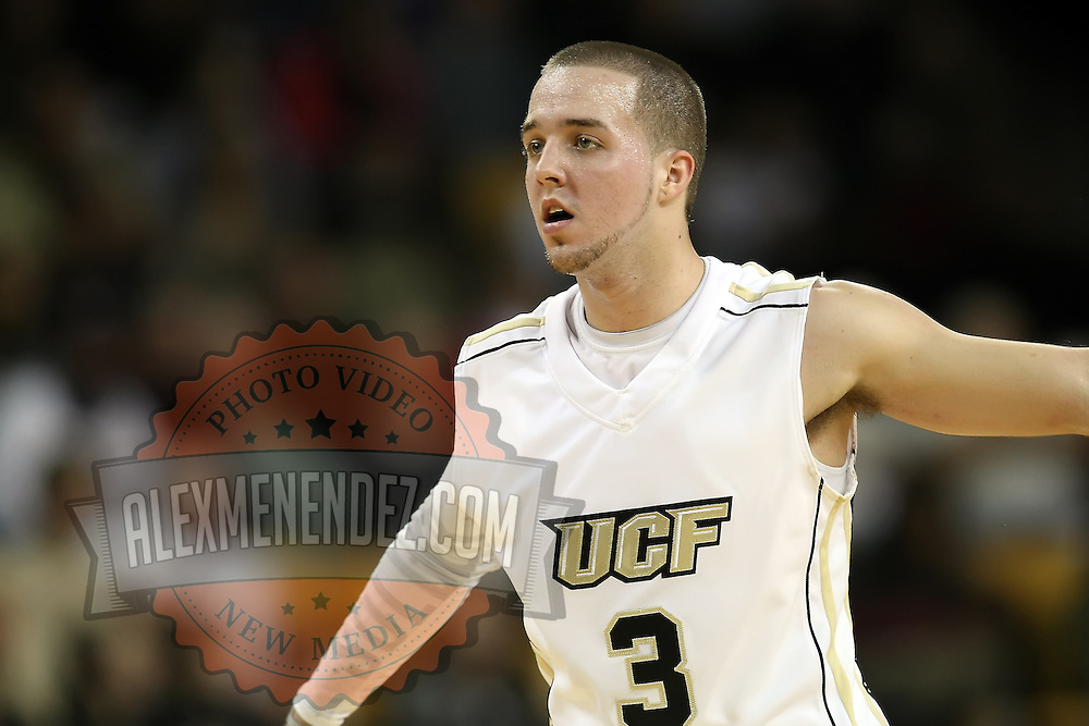 Central Florida guard A.J. Rompza (3) during a Conference USA NCAA basketball game between the Marshall Thundering Herd and the Central Florida Knights at the UCF Arena on January 5, 2011 in Orlando, Florida. Central Florida won the game 65-58 and extended their record to 14-0.  (AP Photo/Alex Menendez)