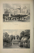 London Windsor Castle (from the Terrace) and Virginia Water (Fishing Temple) From the book Illustrated London, or a series of views in the British metropolis and its vicinity, engraved by Albert Henry Payne, from original drawings. The historical, topographical and miscellanious notices by Bicknell, W. I; Payne, A. H. (Albert Henry), 1812-1902 Published in London in 1846 by E.T. Brain & Co