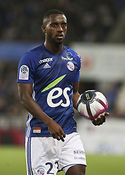 October 20, 2018 - France - Carole Lionel (RSC) during the French L1 football match between Strasbourg (RCSA) and Monaco at the Meinau stadium in Strasbourg, eastern France on October 20, 2018. (Credit Image: © Elyxandro Cegarra/NurPhoto via ZUMA Press)