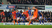 Blackpool's Jay Spearing scores his side's second goal from the penalty spot<br /> <br /> Photographer Chris Vaughan/CameraSport<br /> <br /> The EFL Sky Bet League One - Ipswich Town v Blackpool - Saturday 23rd November 2019 - Portman Road - Ipswich<br /> <br /> World Copyright © 2019 CameraSport. All rights reserved. 43 Linden Ave. Countesthorpe. Leicester. England. LE8 5PG - Tel: +44 (0) 116 277 4147 - admin@camerasport.com - www.camerasport.com