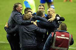 16 May 2017 - Sky Bet Championship - Play-off 2nd Leg - Reading v Fulham - Jaap Stam manager of Reading (R) celebrates with his coaching staff - Photo: Marc Atkins / Offside.
