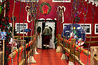 Opening night at Christmas Village at Laconia's Community Center.  Karen Bobotas for the Laconia Daily Sun