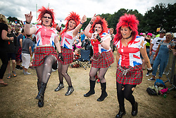 © Licensed to London News Pictures . 09/08/2015 . Siddington , UK . The crowd dancing to The Selecter . The Rewind Festival of 1980s music , fashion and culture at Capesthorne Hall in Macclesfield . Photo credit: Joel Goodman/LNP