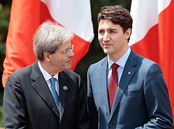 26.05.2017, Taormina, ITA, 43. G7 Gipfel in Taormina, im Bild v.l. Italiens Premierminister Paolo Gentiloni, Kanadas Premierminister Justin Trudeau // f.l. Italy's Prime Minister Paolo Gentiloni Canada's Prime Minister Justin Trudeau during the 43rd G7 summit in Taormina, Italy on 2017/05/26. EXPA Pictures © 2017, PhotoCredit: EXPA/ Johann Groder