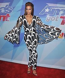 """Tyra Banks at the NBC """"America's Got Talent"""" Season 12 Live Show held at the Dolby Theater in Hollywood, CA on Tuesday, August 22, 2017. (Photo By Sthanlee B. Mirador/Sipa USA)"""