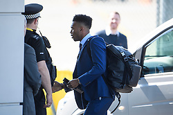 © Licensed to London News Pictures. 06/06/2016. Luton, UK. England striker DANIEL STURIDGE with his bags as he arrives at the airport, before Members of England national football squad board a plane at Luton airport in Bedfordshire, England, to head for their training camp in France, ahead of the start of the UEFA Euro 2016 championships.  Photo credit: Ben Cawthra/LNP