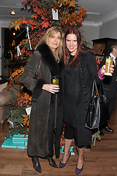 Left to right, PAOLA THOLSTRUP and VICTORIA AITKEN at the Linley Christmas party at Linley, 60 Pimlico Road, London on 20th November 2012.