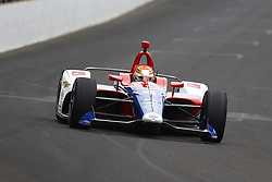 May 18, 2018 - Indianapolis, Indiana, United States of America - MATHEUS LEIST (4) of Brazil brings his car down the frontstretch during ''Fast Friday'' practice for the Indianapolis 500 at the Indianapolis Motor Speedway in Indianapolis, Indiana. (Credit Image: © Chris Owens Asp Inc/ASP via ZUMA Wire)