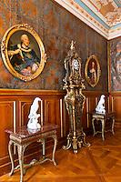 Interior view,Kurfurstenzimmer II, Schloss Moritzburg (castle), Moritzburg, Saxony, Germany