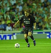 Photo Peter Spurrier<br /> 14/09/2002<br /> 2002 Real Betis vs Real Madrid  - Spanish Liga 1<br /> Real Madrid's, Míchel Salgado