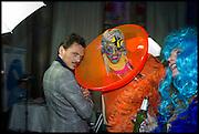 DANIEL LISMORE; MATTHEW WILLIAMSON, Andrew Logan's Alternative Miss World 2014. Shakespeare's Globe, London. 18 October 2014.