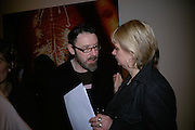 Simon English and Louisa Buck, Other,Riyas Komu and Peter Drake. - VIP  launch of Aicon. London's largest contemporary Indian art gallery. Heddon st. and afterwards at Momo.15 Marc h 2007.  -DO NOT ARCHIVE-© Copyright Photograph by Dafydd Jones. 248 Clapham Rd. London SW9 0PZ. Tel 0207 820 0771. www.dafjones.com.