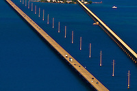 Aerial View of the Seven Mile Bridge, Florida Keys, Florida USA