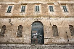Struttura dell' ex caserma intitolata a Vittoriano Cimarrusti