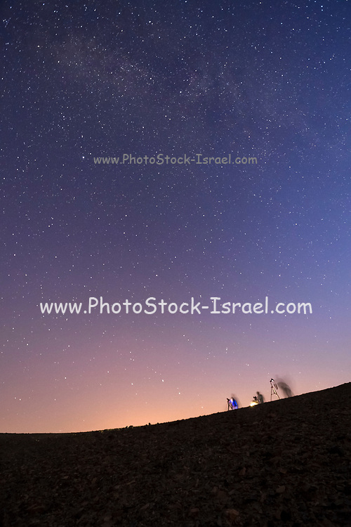 Long exposure of the Milky Way. Photographed in the Negev Desert, Israel