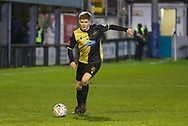 Marine midfieler James Devine (20) crosses the ball during the The FA Cup match between Marine and Tottenham Hotspur at Marine Travel Arena, Great Crosby, United Kingdom on 10 January 2021.
