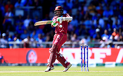 West Indies' Sunil Ambris in batting action during the ICC Cricket World Cup group stage match at Emirates Old Trafford, Manchester.