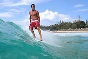 March 23, 2010: Dane Pioli surfs at Snapper Rocks on the Gold Coast. Photo by Matt Roberts