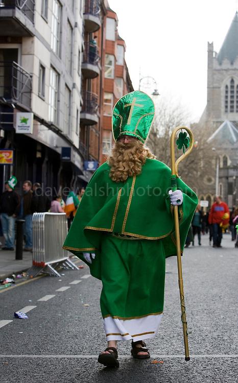 St. Patrick walks the streets of Dublin,  Dublin, St. Patrick's Day, 2009